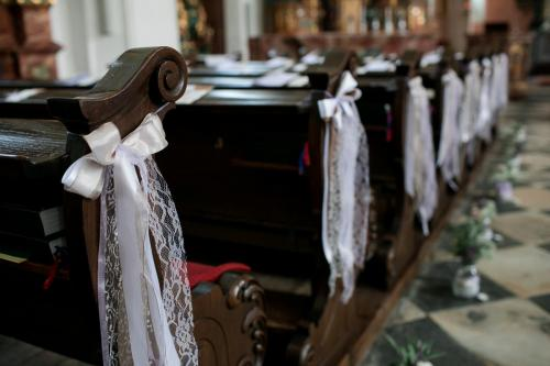 Kirchenbankdekoration