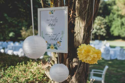 Hochzeitsdekoration: in allen Farben und Formen